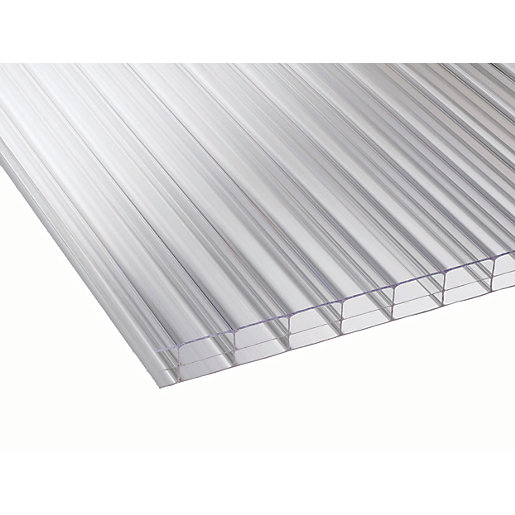 16mm Clear Multiwall Polycarbonate Sheet - 6000 x