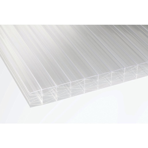 25mm Clear Multiwall Polycarbonate Sheet - 4000 x