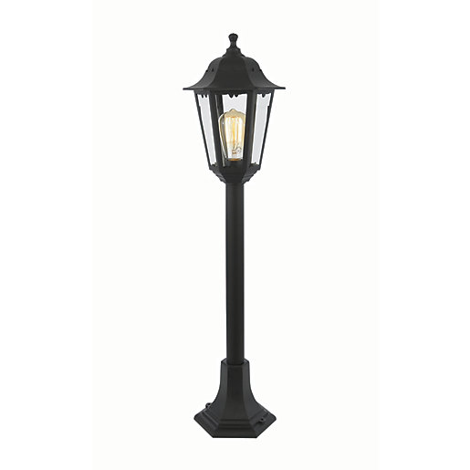Coast Bianca Black Tall Post Light - 60W