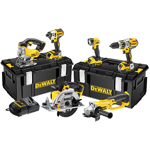 DEWALT DCK694P3-GB 18V Cordless Brushless 6 Piece Set