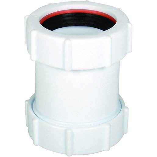FloPlast WC08 Unicom Compression Waste Straight Coupler -