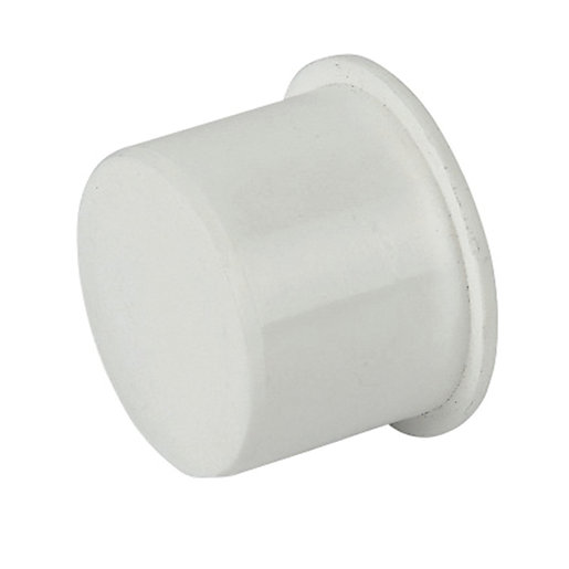 FloPlast WP31W Push-Fit Waste Socket Plug - White