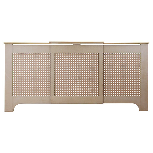 Wickes Halsted Large Adjustable Radiator Cover Unfinished -