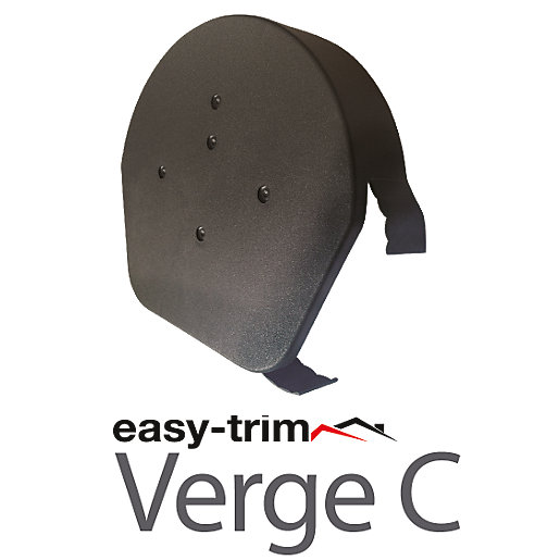 Easy-Trim Verge U Half Round Ridge Cap Grey