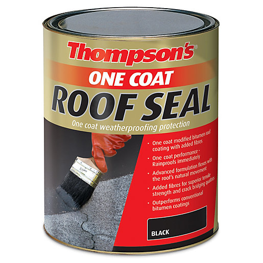 Thompson's One Coat Roof Seal - Black 5L | Wickes.co.uk