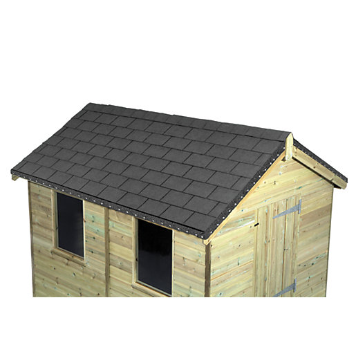 Wickes grey roofing shingles 2m2 pack 14 for Roof tile patterns