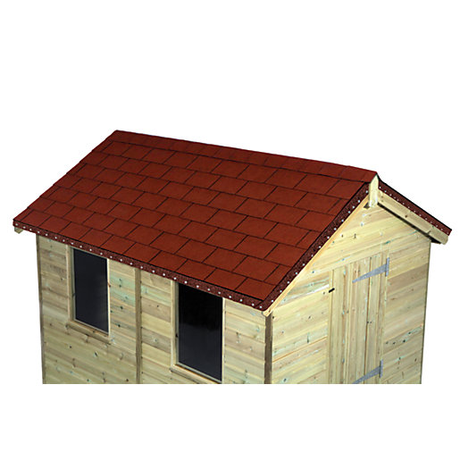 Wickes Red Roofing Shingles 2m2 Pack 14 Wickes Co Uk