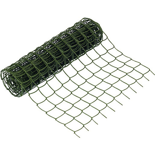 Wickes Heavy Duty Plant Mesh Green - 500mm