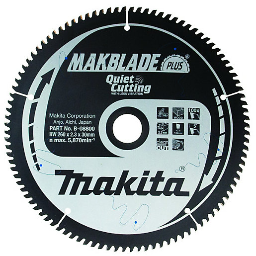 Makita b 08800 makblade plus 100 teeth circular saw blade 260 x mouse over image for a closer look greentooth Image collections