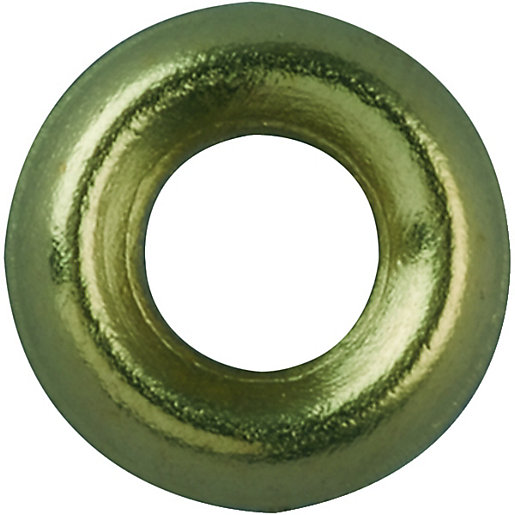 Wickes Brass Screw Cup Washers - No.4 Pack