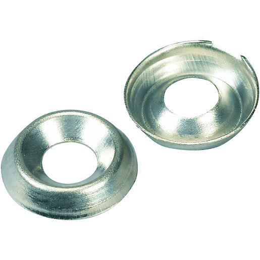 Wickes Nickel Screw Cup Washers - No.12 Pack