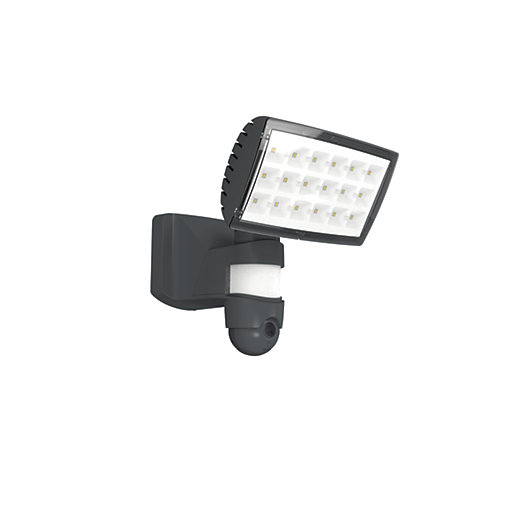 Lutec peri pir security floodlight with wireless cctv 25w wickes mouse over image for a closer look mozeypictures Images