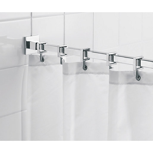 Croydex Luxury Square Shower Curtain Rail | Wickes.co.uk