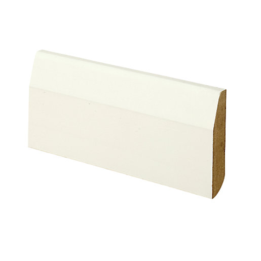 Wickes Dual Purpose Chamfered/Bullnose Primed MDF Skirting -