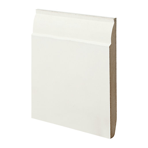 Wickes Dual Purpose Chamfered/Ovolo MDF Skirting - 18mm