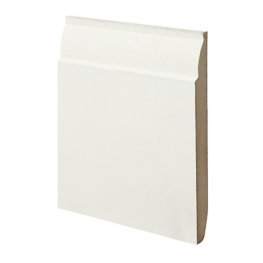 Wickes Dual Purpose Chamfered/Ovolo Primed MDF Skirting -