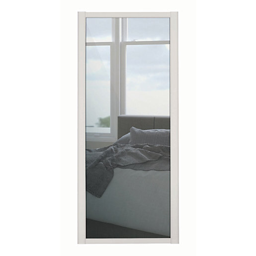 Spacepro 1 Panel Shaker Cashmere Frame Mirror Door 762mm