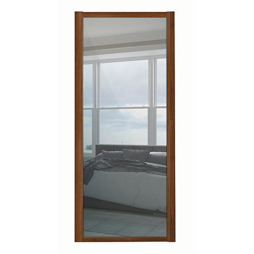 Spacepro 1 Panel Shaker Walnut Frame Mirror Door 610mm