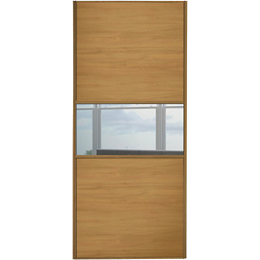Wickes Sliding Wardrobe Door Fineline Oak Panel Amp Mirror