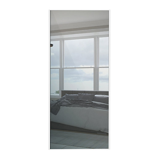 Wickes Sliding Wardrobe Door White Framed Mirror 2220 X