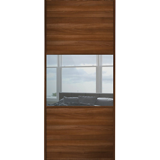 Wickes Sliding Wardrobe Door Wideline Walnut Panel
