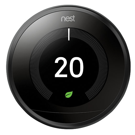 Google Nest Learning Smart 3rd Generation Black Thermostat