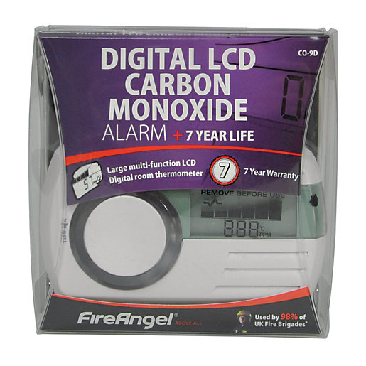 FireAngel 7 Year Sealed Battery Digital Carbon Monoxide