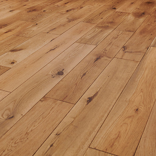 Style Garden Light Oak Solid Wood Flooring 1 5m2 Pack Wickes Co Uk