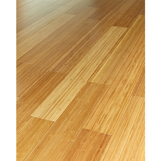 Wickes vertical medium bamboo solid wood flooring wickes for Real wood flooring