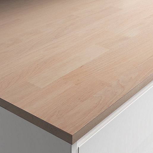 22mm Engineered Oak With White Oil Worktop 610mm