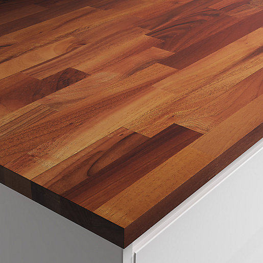 27mm Solid Wood European Walnut Worktop 610 x