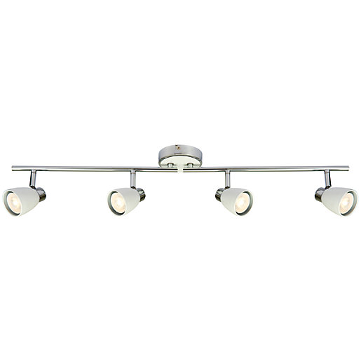 Wickes major led white chrome 4 bar spotlight 4 x 48w mouse over image for a closer look aloadofball Images