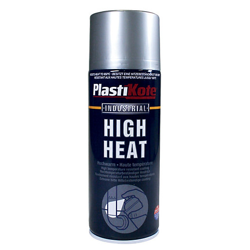 Plastikote Industrial High Heat Aerosol Spray - Aluminium