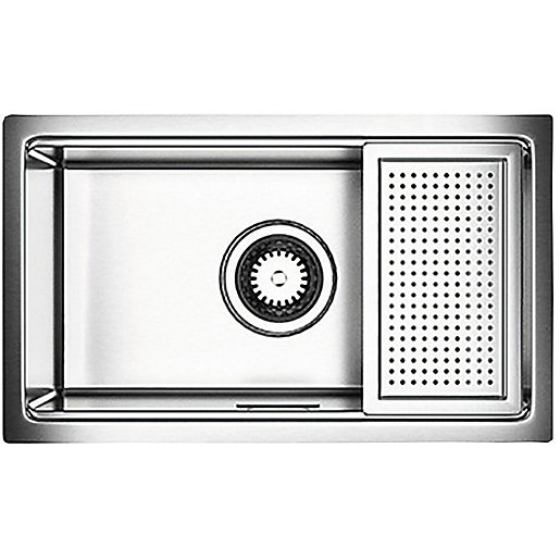 Astracast 1 Bowl Compact Kitchen Sink - Stainless Steel | Wickes.co.uk