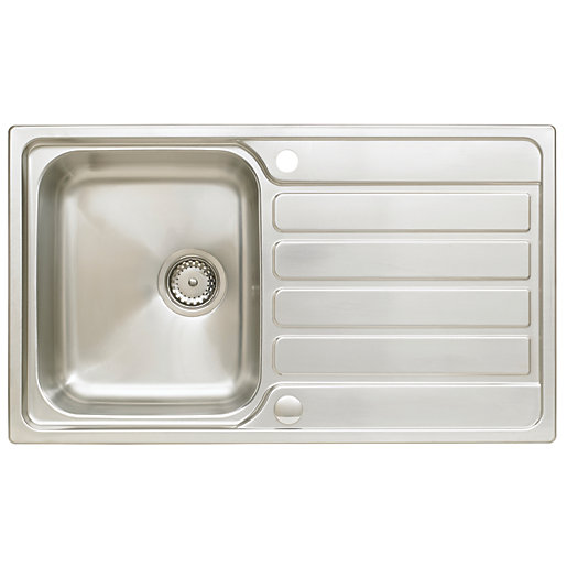 Astracast Elise 1 Bowl Compact Kitchen Sink - Stainless Steel ...
