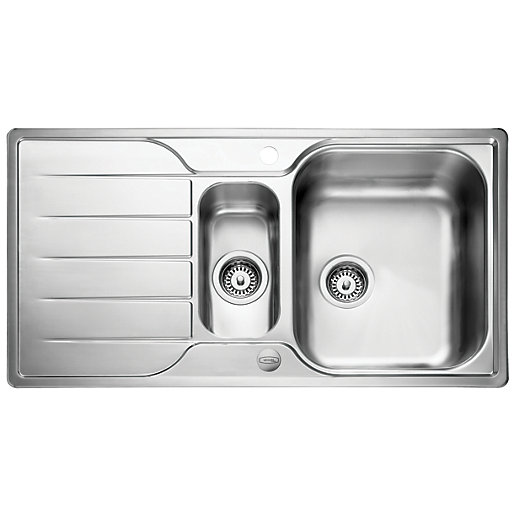 Leisure Albion 1.5 Bowl Reversible Stainless Steel Kitchen