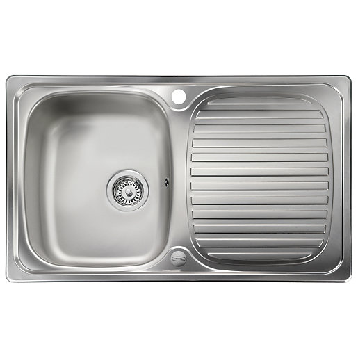 Leisure Linear Compact 1 Bowl Reversible Inset Stainless