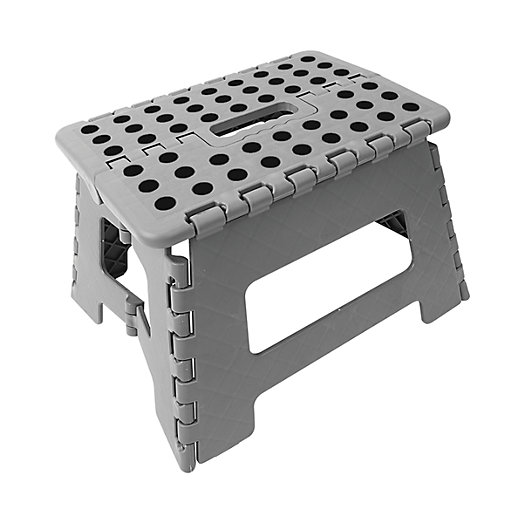 Wickes Plastic Folding Step Stool Grey Wickes Co Uk