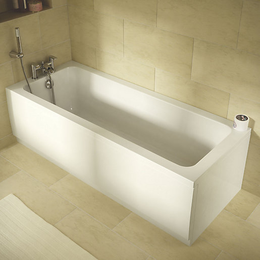 Wickes Camisa Reinforced Straight Bath - 1700 x