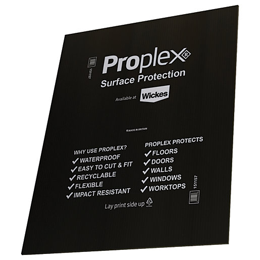 Proplex Black Surface Protection Sheet 1200 x 1000