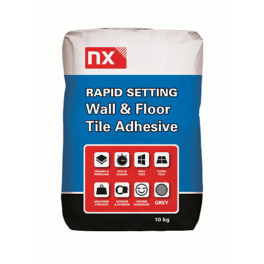 Norcros Rapid Setting Tile Adhesive Grey 10kg