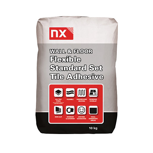 Norcros Standard Setting Flexible Tile Adhesive Grey 10kg