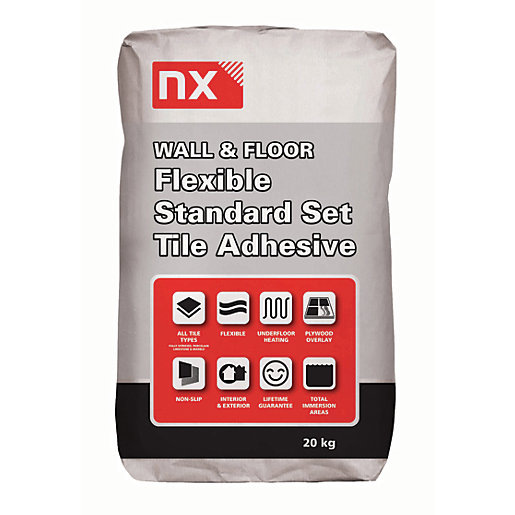 Norcros Standard Setting Flexible Tile Adhesive Grey 20kg