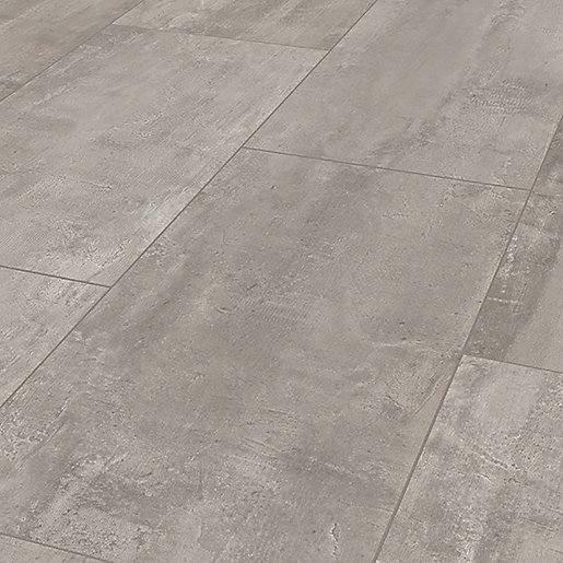 Wickes Concrete Tile Effect Laminate Flooring 2 5m2 Pack