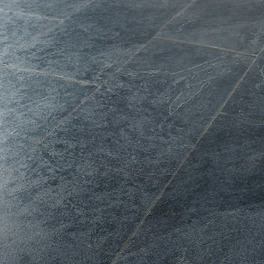Black Slate Laminate Flooring : Grey slate floor tiles wickes thefloors