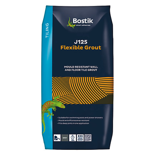 Bostik Flexible Tile Grout J125 5kg Grey