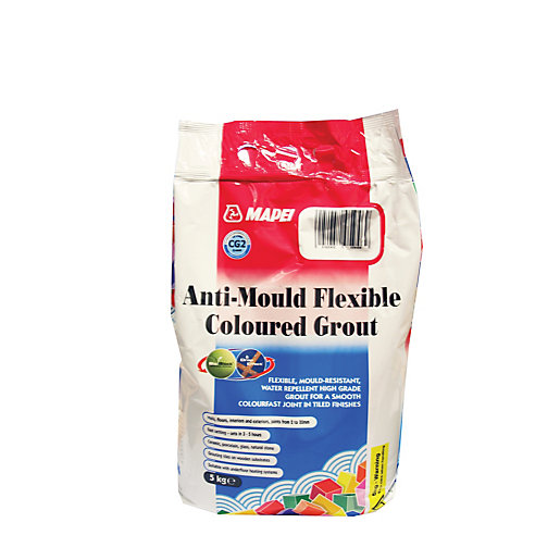 Mapei Anti-mould Flexible Coloured Tile Grout Charcoal 5kg