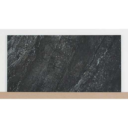 Wickes Amaro Charcoal Porcelain Tile 615 x 308mm