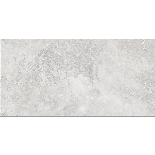 Wickes Brook Grey Porcelain Tile 600 x 300mm