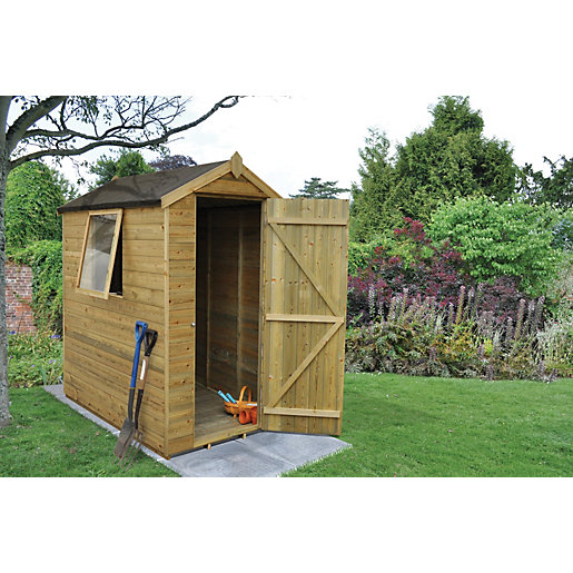 forest garden apex tongue groove pressure treated shed. Black Bedroom Furniture Sets. Home Design Ideas